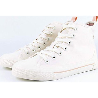Giày Sneakers Nữ Cổ Cao DinCox White D09