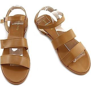 Giày Sandal Nữ Đế Bệt Quai Kép Classic