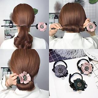 Dây hoa búi tóc đính hoa đại phong cách Hàn Quốc- combo 2 cái 2 màu ( hoa như hình )
