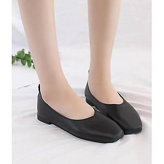 Giày búp bê nữ da mềm mũi vuông size chuẩn nhiều màu V219