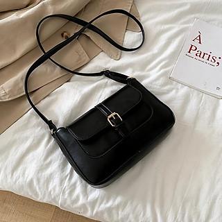 Túi đeo chéo nữ da PU cao cấp dáng basic sang trọng dễ phối đồ