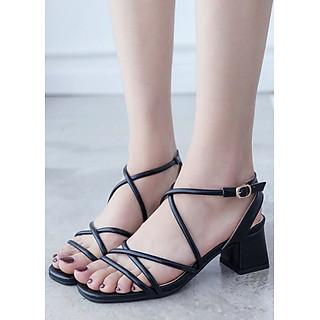Giày cao đế dây đang chéo tinh tế 9600109