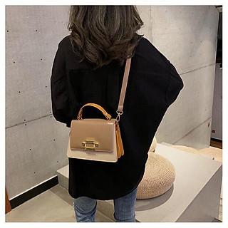 Túi đeo chéo xách tay nữ T58 22x17x9cm (Đen-Nâu-Xám-Xanh)