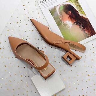 Giày Hở Gót 5cm Gót Rỗng Pixie X569