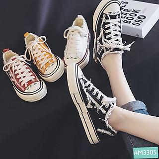 Giày Thể Thao Nữ MINSU M3305 Giày Sneaker Bata Hàn Quốc Style Rách Cho Bạn Gái Năng Động, Cá Tính Khi Đi Chơi, Đi Học