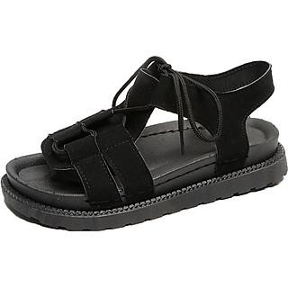 Sandal Nữ Quai Ngang Da Lộn Đế 3cm