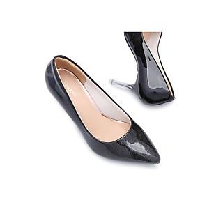 Giày Cao Gót 8cm Da Kim Tuyến Mũi Nhọn Êm Chân -BH 12 Tháng- PABNO PN414
