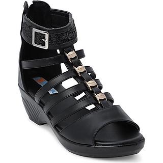 Giày Sandal Chiến Binh Đế Xuồng Rosata RO138 - Đen