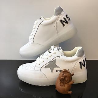 Giày trắng nữ độn đế cao 7cm