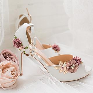 Giày cưới Nghé Art đính hoa 279
