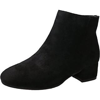 Boot nữ đế trệt đi bộ đơn giản hiện đại GBN17601
