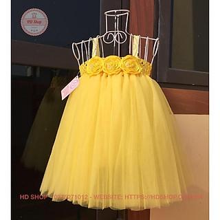 Váy tutu cho bé ️️ Váy tutu hoa cuốn vàng cho bé gái siêu đẹp