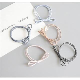 Combo 5 dây thun cột buộc tóc nữ đơn giản (ngẫu nhiên)