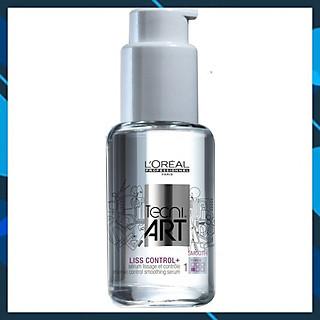 Tinh dầu L'oreal Tecni art. Liss Control + Intense Smoothing Serum Force 1 bóng mượt và chống rối 50ml
