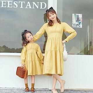 Đầm đôi mẹ và bé kiểu dáng babydoll siêu xinh