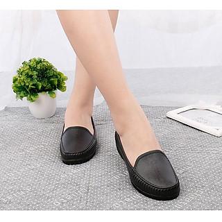 Giày nhựa ,giày đi mưa mũi vuông đi mưa đi bộ siêu xinh Tizinis BB02