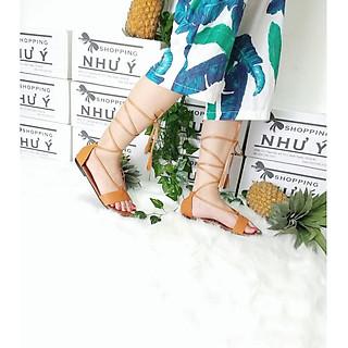 Giày Dép Sandal Cột Dây Tua Rua