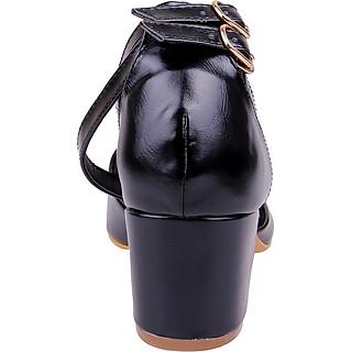 Giày Sandal Nữ Gót Vuông 2 Dây Mozy