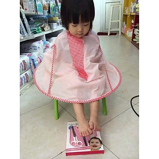 Combo Áo mưa siêu nhẹ cho bé + Áo choàng cắt tóc có khay hứng nội địa Nhật Bản