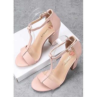Giày Sandal Nữ Cao Gót Vuông Cao 9cm