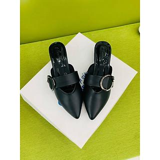 [ Shop giày somina ] Sục bít mũi 3cm khóa MT201