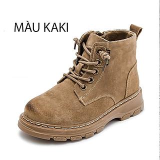 Giày cao cổ da bò cho học sinh nam nữ 2021 mẫu mới phiên bản Hàn Quốc Mã J101