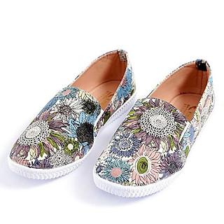 Giày lười họa tiết hoa hướng dương kèm ản thật