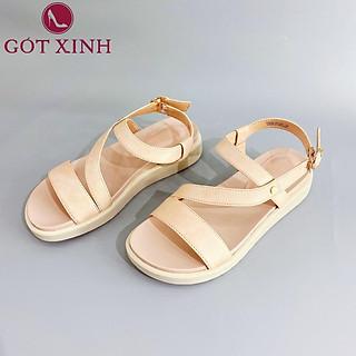 Sandal Chéo Gót Xinh GX296 Đế Bằng Cao 2cm