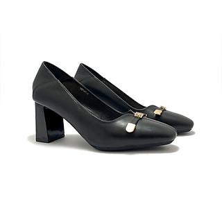 Giày cao gót ZAHAN 5cm, mũi vuông, xẻ mũi CGZA14