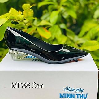 [ Shop giày somina ] Giày gót mika hình giọt nước 3cm MT188