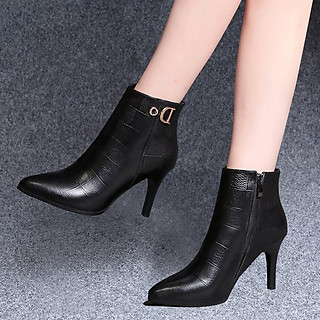 Boot da nữ thời trang thiết kế đơn điệu, thanh lịch - NP109