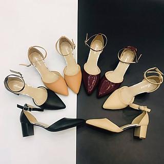 [ Shop giày somina ] Sandal bít mũi gót 5cm MT820
