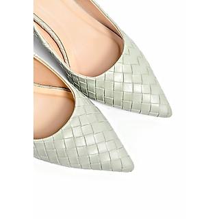 Giày Cao Gót Công Sở 6cm Đệm Mút Sulily màu mint mang êm chân G01-IV20MINT