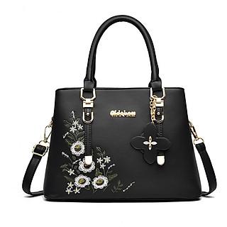 Túi đeo chéo nữ  túi xách nữ công sở thêu hoa thời trang sang trọng phong cách Hàn Quốc TN125