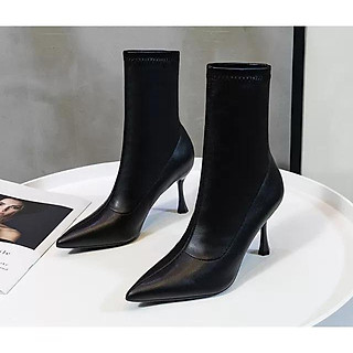 Giày Boot nữ gót mảnh thời trang cao cấp - Giày Boot gót nhọn cao 8cm - Linus LN228