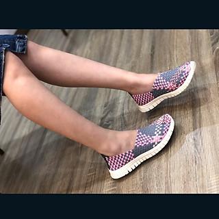 Giày thể thao nữ Thái Lan chuyên dụng đi bộ siêu nhẹ siêu bền siêu êm chân WN3014PinkGrey, màu sắc thời trang trẻ trung, không ngại mưa nắng, đi mưa rửa nước thoải mái, đi mòn hết đế chưa hỏng giày - giày dép Thái Lan