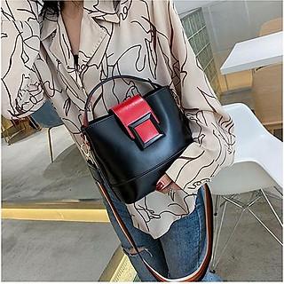 Túi xách nữ công sở khóa vuông da mềm thanh lịch, thời trang 0887