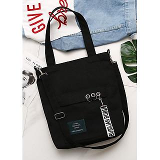 Túi đeo chéo vải canvas LAHstore, túi vải nữ TV08, phong cách Hàn Quốc, thời trang trẻ