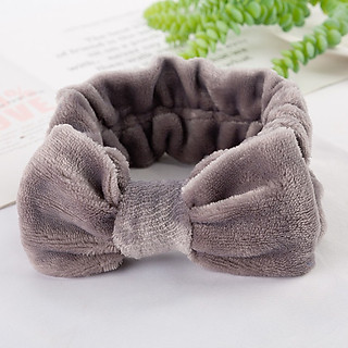 Băng đô nơ vải nhung mềm mại cài tóc trang điểm rửa mặt dễ thương tiện dụng BD15