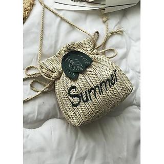 Túi cói đi biển- túi đeo chéo thời trang hè- Túi đeo chéo thời trang nữ-