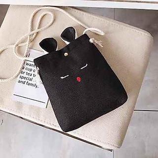 Túi đeo chéo tai thỏ dễ thương cute thời trang nữ tính trẻ trung siêu đẹp UZ11