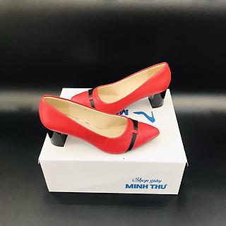 [ Shop giày somina ] Giày VIP cao 5cm phối màu MT230