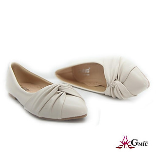 Giày Búp Bê Nữ Mới Mủi Nhọn From Chuẩn Êm Chân| Giày Bệt Nữ Nơ Xoắn Siêu Xinh NBB002