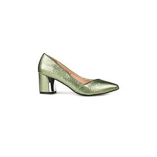 Giày cao gót nữ công sở, mũi xéo da vẩy thời trang sang chảnh cao 6cm thương hiệu PABNO PN638