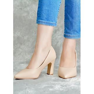Giày Cao Gót Nữ Vasmono Đế Vuông Sành Điệu V017012