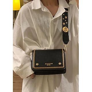 Túi đeo chéo nữ thời trang T65 size 19x14x8cm dây lụa đeo chéo bản lụa to phụ kiện thời trang nữ- T65