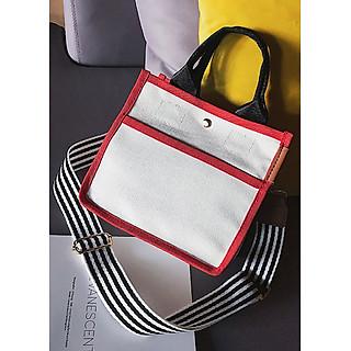 Túi vải nữ mini phối màu chất vải bố siêu đẹp LA033