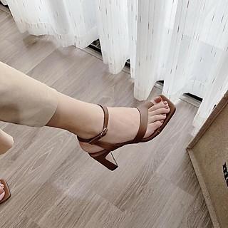 Giày Sandal cao gót nữ CITAS gót chữ nhật cao 5 cm phối quai xỏ ngón cực chất
