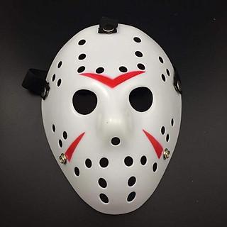 Mặt Nạ Jason hóa trang Halloween leegoal Lỗ tròn Màu Trắng