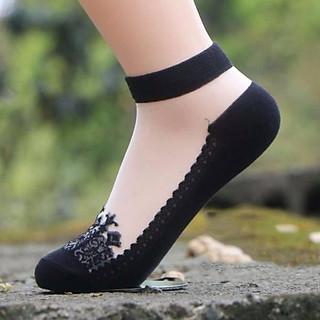 Combo 6 đôi tất nữ ren công chúa cổ ngắn cực đẹp